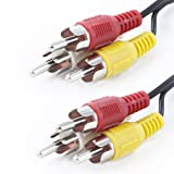 Fosmon Technology Premium RCA Audio/Video Composite Cable (Red/White/Yellow) - 6FT