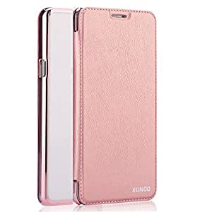 XUNDD Encore Series Luxury Leather Flip Case Cover for Apple iphone SE 5 5S - Rose Gold