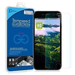 iPhone 6 Plus Protector de Pantalla, JETech [3D Touch Compatibles] iPhone 6 Plus Vidrio Templado Protector de Pantalla Empaquetado al por Menor para iPhone 6 Plus y iPhone 6s Plus 5.5