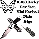 Benchmade 13150 Harley Davidson Mini Pasta Hardtail 3in Axis.  Lâmina de Borda Plain & Famed Pocket Pal Sharpener para Plain & Blades Borda serrilhada