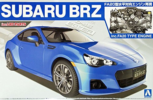 Aoshima 1:24 2012 Subaru BRZ - Plastic Model Kit #07617 (Subaru Brz Model compare prices)