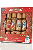 6 Kids Christmas Crackers with Crimbleberry Wood Finger-Puppets & Theatre [T21-3267C-S]
