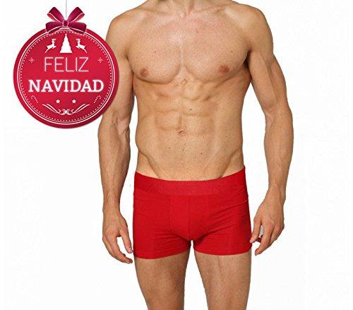 Boxer de nochevieja para hombre dasher color rojo ropa for Ropa interior erotica hombre
