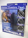 PS2 Home Theatre Pack Includes DVD Storage Stand, DVD Remote, DVD Laser Lens Cleaner