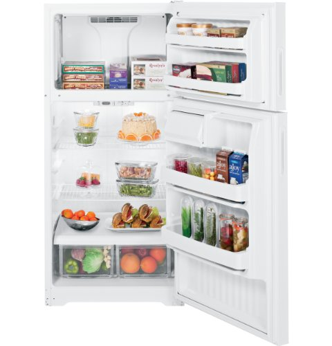 hotpoint htr16bberww 15.6 cu. ft. white top freezer refrigerator