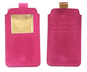 Jo Jo A10 Anya Leather Carry Case Pouch Wallet S View For Asus Zenfone Go 5.0 LTE Exotic Pink