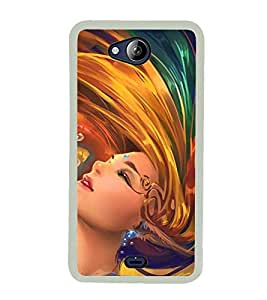 ANIMATED GIRL Designer Back Case Cover for Micromax Canvas Play Q355