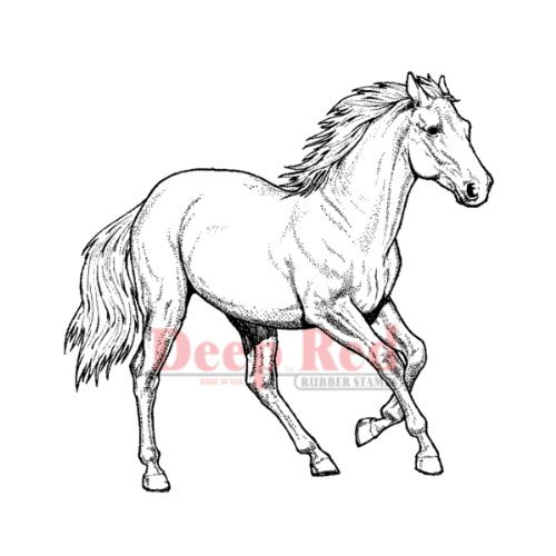 Deep Red Stamps Wild Horse Rubber Stamp by Deep Red Stamps