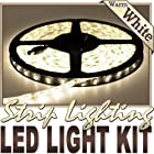 16.4' Feet Warm White 300 LEDs Light Remote Control Dimmer Kit SMD3528 110V Plug - LED Strip Lighting for Aquariums, Bedrooms, Bathrooms, Commercial, Garage, Kitchen, Living Room, Man Caves, Offices, and Vehicles LED Reading Light Strip Night Light Lamp Bulb Accent Lights SMD3528 Waterproof 3528 SMD Flexible DIY 110V-220V