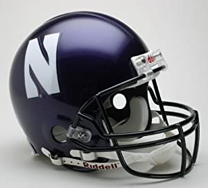 NORTHWESTERN WILDCATS NCAA Riddell VSR-4 ProLine AUTHENTIC Football Helmet by ON-FIELD
