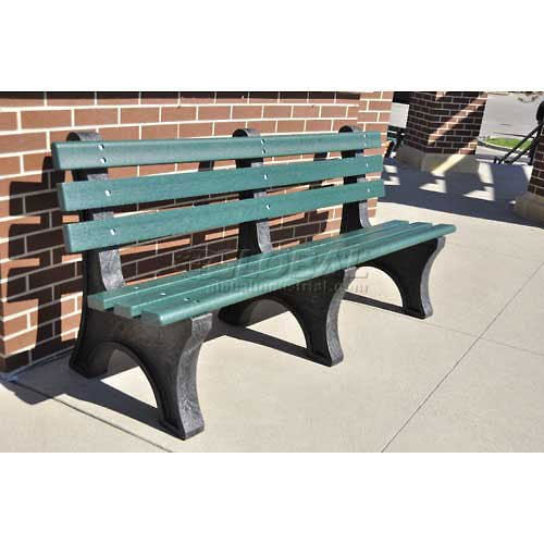 4' Central Park Bench, Recycled Plastic, Green (Central Plastics compare prices)