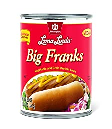 Loma Linda Vegetarian Meat Substitutes, Big Franks, 20 Ounce (Pack of 12)