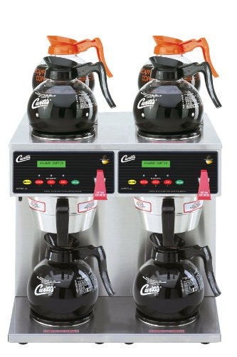 Wilbur Curtis G3 Alpha Decanter Brewer 64 Oz Coffee Brewer, Dual Voltage, 6 Station Twin 4 Upper, 2 Lower Warmers - Commercial Coffee Brewer  - ALP6GTN63A000 (Each)