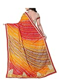 EthnicJunction Womens Heavy Georgette Saree With Blouse (EJ1132-4809_Multicolored)