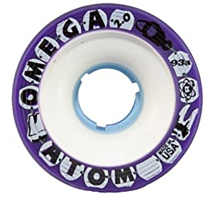 Atom Omega Purple Wheels - Atom Omega 2.0 Wheels - Derby Skate Wheels
