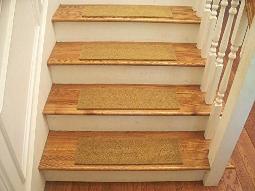 Essential Carpet Stair Treads - Style: Velour - Color: Gold - Size: 24