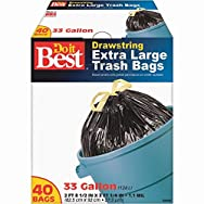 Do it Best Extra Large Drawstring Trash Bag-33GAL/40CT TRASH BAG