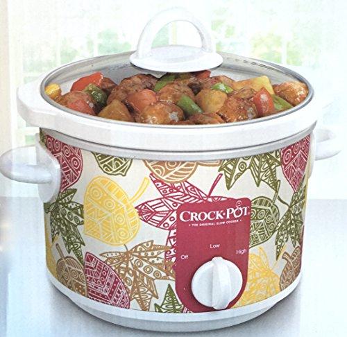 Autumn Leaves Classic Crock Pot Slow Cooker 2.5 Quart (Vintage Slow Cooker compare prices)
