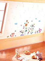 Ambiance Sticker Vinilo Decorativo Colorful Animals And Trees