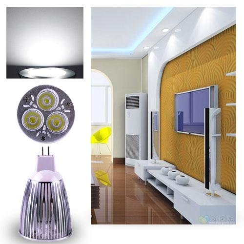 Ultra Bright Mr16 12W Led Spot Light Downlight Lamp Bulb Pure White Fashion Partical