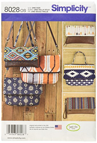 Simplicity Patterns Clutch, Wristlet and Purse in Two Sizes Size: Os (One Size), 8028 (Purse Sewing Patterns compare prices)