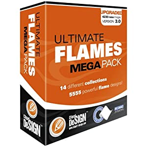 Flames Clipart-Vinyl Cutter Plotter Clip Art Images-Tribal Flame Vector Art-Sign Design Graphics CD-ROMs from Clipart deSIGN USA