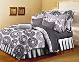 Bellagio Pure Collection Cotton 1 Double Bed Sheet & 2 Pillow Covers (Grey)