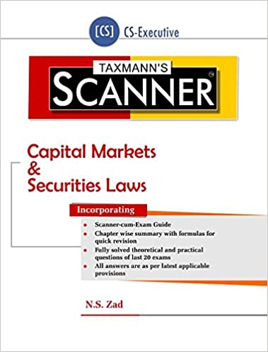 Scanner -Capital Markets & Securities Laws (CS-Executive) (August 2016 Edition