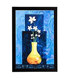 eCraftIndia Vase & Flower Satin Matt Textured UV Art Painting