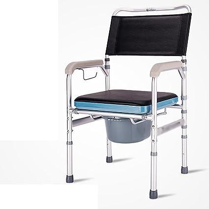 JMung'S Sedile Da Doccia Sgabello Regolabile Bacinica In Altezza Sedia Regolabile In Altezza Per Più Sicurezza E Comodità In Bagno Ideale Per Anziani E Disabili