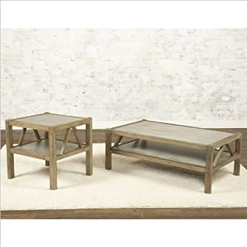 Largo Furniture Ketley 2 Piece Coffee Table Set in Aluminium