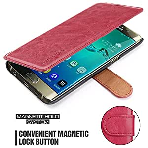 Samsung Galaxy A5 Case,Mulbess [Layered Dandy][Wine Red] - [Card Slot][Flip][Slim Fit] - PU Leather Wallet Case For Samsung Galaxy A5 (2016)