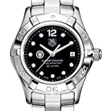 TAG HEUER watch:Cornell University TAG Heuer Watch - Women?s Steel Aquaracer with Black Diamond Dial at M.LaHart