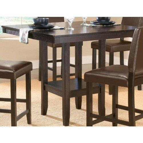 Buy Low Price Hillsdale Counter Height Dining Table with Storage Shelf in Espresso Finish (4180-835M)