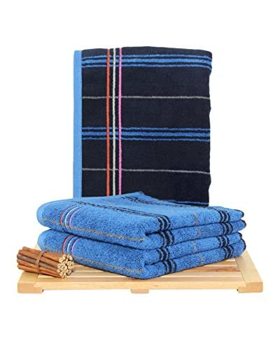 Maisonette Gary 3-Piece Hand Towel Set, Midnight