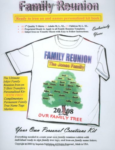 Family Reunion T-Shirt Kit Book
