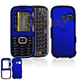 Dark Blue Rubber Feel Snap-On Cover Hard Case Cell Phone Protector for LG R ....