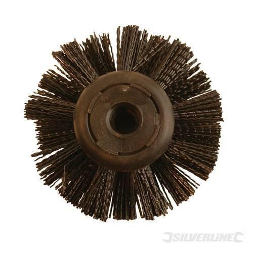 Plumbing Drain Rods Drain Brush Head Drain Brush Head 100mm 100mm diameter coarse bristled drain rod brush. Ideal to remove debris from drain walls. Also use for chimney sweeping. Always turn clockwise.