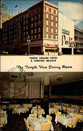 Temple Square Hotel & Parking Terrace - The Temple View Dining Room Original Vintage Postcard