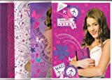4 PACK NOTEPAD SET 24 SHEETS VIOLETTA DISNEY ORIGINAL SET 4 CUADERNOS NOTEBOOK