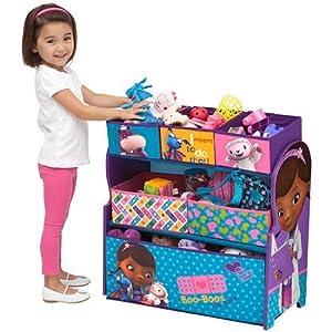 Delta Disney Doc McStuffins Multi-Bin Toy Organizer, Blue