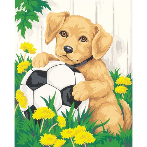 Dimensions Needlecrafts Paintworks Paint By Number, Puppy & Soccer Ball