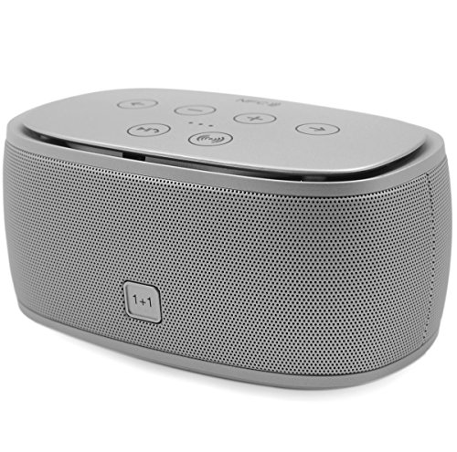 Tronfy Gemini Nfc Portable Wireless Bluetooth V3.0 Cute Mini Speaker W/3D Stereo Surround Sound Effect For Iphone,Ipad,Ipod,Android Smartphones,Tablets,Laptops,Pc,Computer,Mp3,Mp4 (Silver)