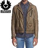 (ベルスタッフ)Belstaff 'Beckenham' Leather Moto レザー ジャケット(並行輸入品)rakuwakuten (50EU(L), Pale Military)