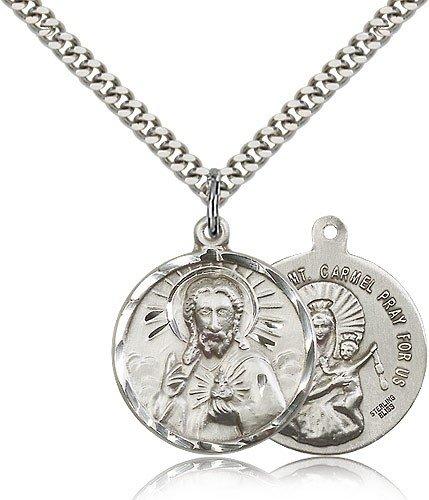 Scapular Medal, Sterling Silver