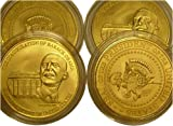 1 Oz Gold Barack Obama Signed Inauguration Coins