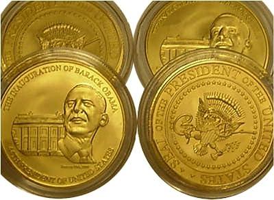 1 Oz Gold Barack Obama Signed Inauguration Coins