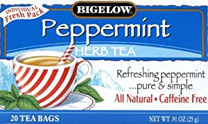 Bigelow Peppermint Herbal Tea 20.0 CT (Pack of 3)
