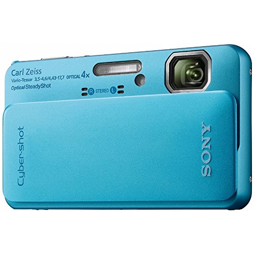 Sony Cyber-Shot DSC-TX10 16.2 MP Waterproof Digital Still Camera with Exmor R CMOS Sensor, 3D Sweep Panorama, and Full HD 1080/60i Video (Blue) (Sony Waterproof Digital Camera compare prices)