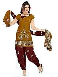 Rajlaxmi Womans unstiched dress Material Brown colour Free Size